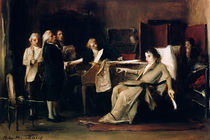 Mozart directing his Requiem on his deathbed  by Mihaly Munkacsy
