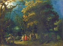 The Sermon of John the Baptist  by Adam Elsheimer