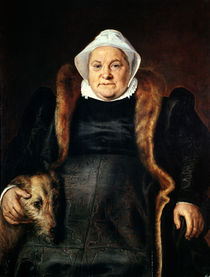 Portrait of an Elderly Woman or by Frans Floris