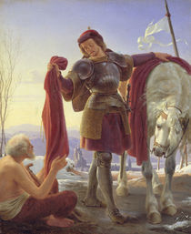 St. Martin and the Beggar by Alfred Rethel