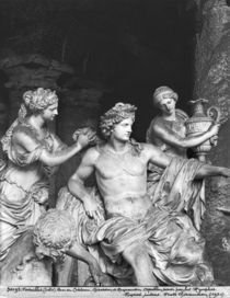 Apollo tended by the nymphs in the grove of the Baths of Apollo by Francois Girardon