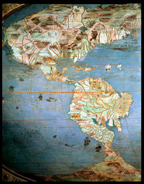 Map of North and South America von Antonio Giovanni de Varese