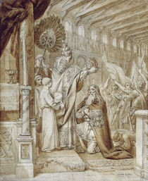 Coronation of Charlemagne  by Joseph Paul Blanc
