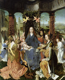 Madonna and Child with Mary Magdalene and St. Catherine  by Jan Gossaert