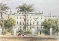 West front of Sir Robert Peel's House in Privy Garden  by Thomas Hosmer Shepherd