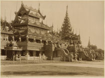 The Hman Kyaung or the glass monastery by Felice Beato