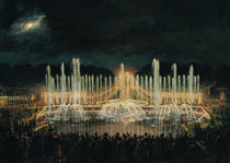 Illuminated Fountain Display in the Bassin de Neptune in Honour of Prince Francisco de Assisi de Bourbon  by Eugene-Louis Lami