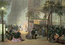 A Queue at the Theatre de l'Ambigu-Comique  by Eugene Charles Francois Guerard
