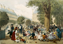 The Tuileries by Eugene Charles Francois Guerard