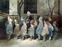Schoolboys in the Playground  by Henri Bonaventure Monnier