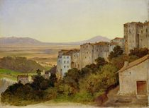 View of Olevano by Heinrich Reinhold