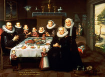 A Portrait of a Family saying Grace Before a Meal by Gortzius Geldorp