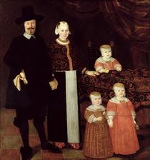 Portrait of a Hamburg Family by Hamburg Master
