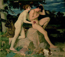 Adam and Eve  by William Strang