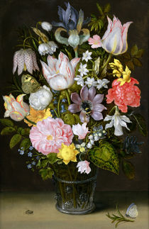 Still Life with Flowers  by Ambrosius the Elder Bosschaert