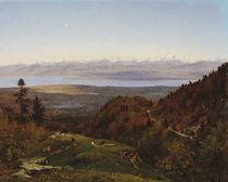 Mont-Blanc seen from Saint-Cergues by Francois Louis Francais