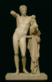 Statue of Hermes and the Infant Dionysus von Praxiteles