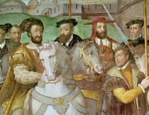 Detail from The Solemn Entrance of Emperor Charles V  by Taddeo Zuccaro