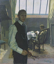 Self Portrait in the Studio von Franz Nolken