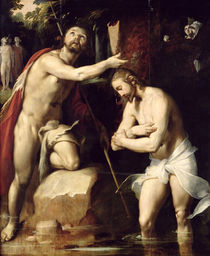 The Baptism of Christ  by Cornelis Cornelisz. van Haarlem