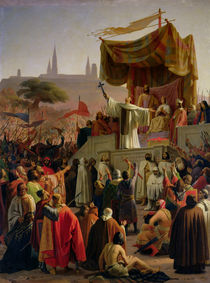 St. Bernard Preaching the Second Crusade in Vezelay by Emile Signol