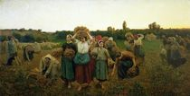 Calling in the Gleaners von Jules Breton