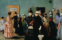 Albertine at the Police Doctor's waiting room by Christian Krohg