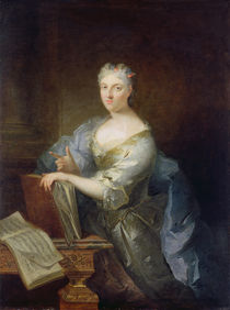 Portrait of the singer Marie-Louise Desmatins  von Robert Tournieres