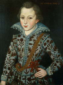 Portrait of a Young Boy by the Elder Robert Peake