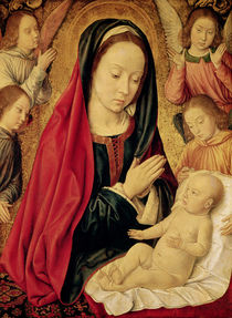 The Virgin and Child Adored by Angels  by Master of Moulins