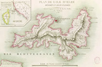 Map of the Island of Elba von Baron Louis Albert Bacler d'Albe