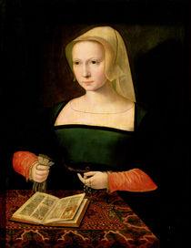 Portrait of a young woman  by Master of the Female Half Lengths