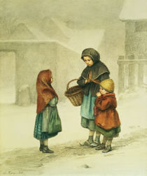Conversation in the Snow  by Pierre Edouard Frere