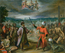 Allegory of the Turkish Wars: The Declaration of War at Constantinople by Johann or Hans von Aachen