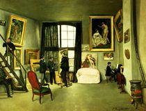 The Artist's Studio von Jean Frederic Bazille