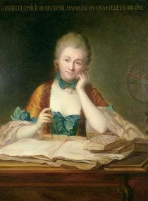 Madame de Chatelet-Lomont  by Maurice Quentin de la Tour