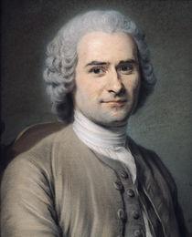 Portrait of Jean Jacques Rousseau  by Maurice Quentin de la Tour