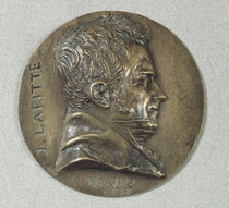Medallion with a portrait of Jacques Lafitte  by Pierre Jean David d'Angers