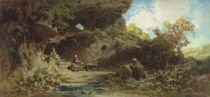 A Hermit in the Mountains  by Karl Spitzweg