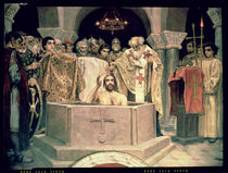 The Christening of Grand Duke Vladimir  by Victor Mikhailovich Vasnetsov
