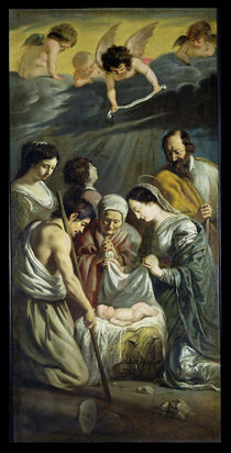 The Adoration of the Shepherds by Antoine and Louis Le Nain