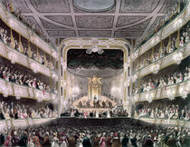 Covent Garden Theatre by T. Rowlandson
