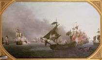 Naval Combat off the Isle of Grenada by Jean-Francois Hue