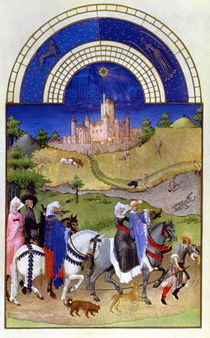 Facsimile of August: Hawking by Limbourg Brothers