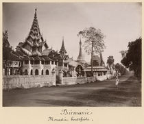 Wayzayanda monastery and pagodas at Moulmein by Philip Adolphe Klier