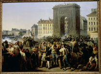 Battle at the Porte Saint-Denis by Hippolyte Lecomte
