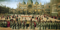 Procession in St. Mark's Square by Gentile Bellini