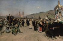 A Religious Procession in the Province of Kursk von Ilya Efimovich Repin