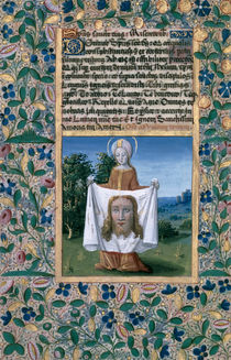 Ms Lat. Q.v.I.126 f.90v St. Veronica by Jean Colombe