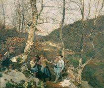 Early Spring in the Vienna Woods  by Ferdinand Georg Waldmuller